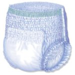 Pull-up style adult diaper